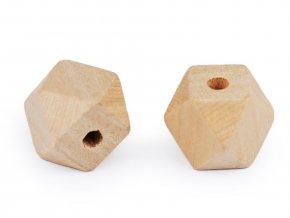 Dřevěné korálky nelakované 20x20 mm
