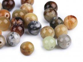 Minerálové korálky Bambusový achát Ø8 mm
