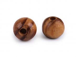 Dřevěné korálky Strip Ø10 mm