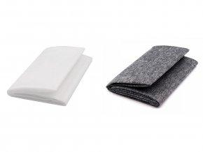 Netkaná textilie 90x100cm nažehlovací prošitá bílá KARINA