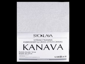 Vyšívací tkanina Kanava 20x30 cm 46 oček