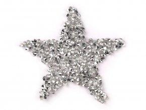 Nažehlovací hvězda s kamínky