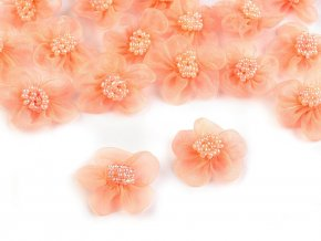 Monofilový květ s korálky Ø25 - 30 mm