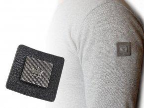 Dekorační aplikace / nášivka koruna 30x30 mm na oděv