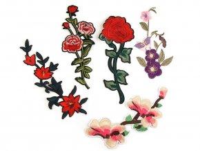 Velká nažehlovačka květy / růže