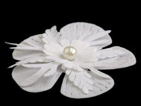 Květ 3D Ø53 mm s perlou