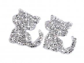 Nažehlovací kočka s kamínky