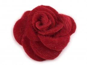 Růže z imitace kožešiny Ø50 mm