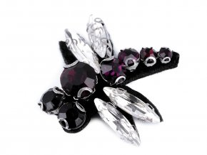 Aplikace s broušenými kameny motýl, vážka, včela