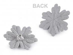 Aplikace vločka / květ s kamínkem Ø30 mm