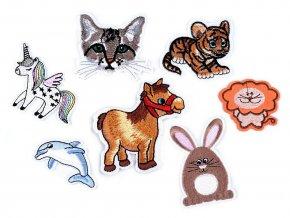Nažehlovačka jednorožec, delfín, tygr, kočka, lev, zajíc