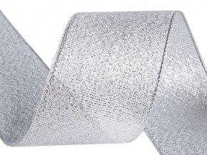 Brokátová stuha šíře 38 mm s lurexem