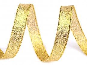 Brokátová stuha šíře 10 mm s lurexem, vánoční