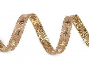 Stuha stromeček s lurexem šíře 10 mm