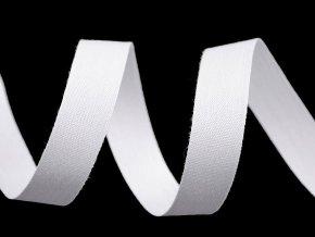 Bavlněná stuha / plátnovka šíře 15 mm jednobarevná