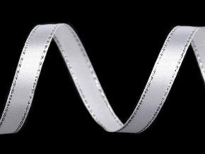 Atlasová stuha s lurexem šíře 10 mm