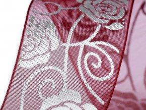 Svatební monofilová stuha růže šíře 27 mm