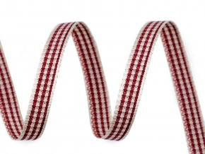 Károvaná stuha šíře 6 mm