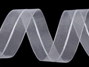 Monofilová stahovací stuha s lurexem šíře 26 mm vánoční