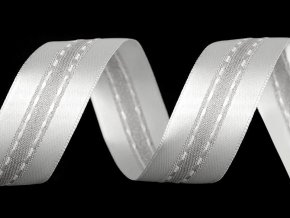 Atlasová stuha s lurexem šíře 25 mm