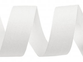 Bavlněná stuha / plátnovka šíře 25 mm jednobarevná