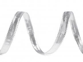 Stuha s lurexem a drátem šíře 10 mm