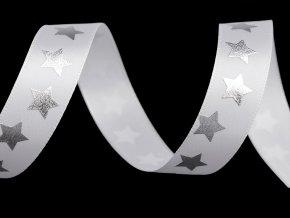 Saténová stuha hvězdy šíře 20 mm