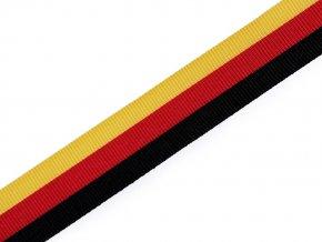 Stuha trikolora Německo šíře 15 mm