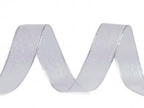 Vánoční stuha s AB efektem a vlascem šíře 25 mm