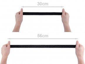 Pruženka hladká šíře 25 mm tkaná černá