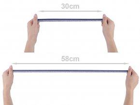 Lemovací pruženka půlená / lampas šíře 17 mm s lurexem