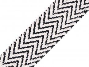 Bavlněný oboustranný popruh šíře 38 mm