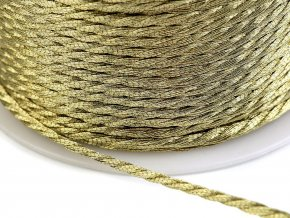Kroucená šňůra Ø1,5 mm s kovovým vláknem
