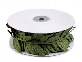 Saténový prýmek šíře 40 mm listy velké