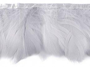 Prýmek - husí peří šíře 9 cm