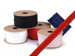 Bavlněná sutaška / prýmek / provázek šíře 4 mm