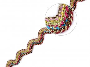 Prýmek / hadovka s lurexem šíře 13 mm