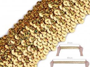 Flitrový prýmek šíře 45 mm hologram