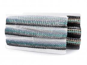 Flitrový prýmek na monofilu šíře 23 mm