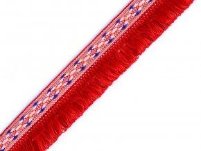 Prýmek indiánský s dvojitými třásněmi šíře 27 mm