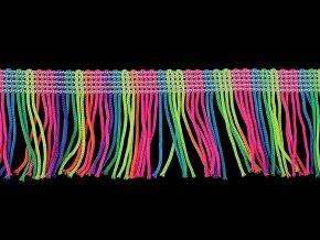 Třásně šíře 50 mm neon