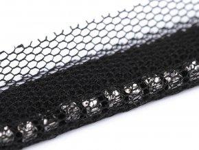 Prýmek / paspulka s broušenými kamínky šíře 17 mm
