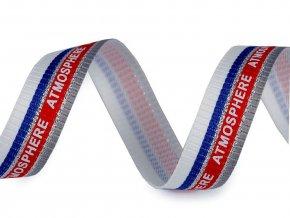 Lampas / oděvní stuha Atmosphere s lurexem šíře 20 mm