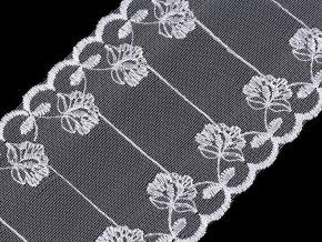 Vyšívaný prýmek / vsadka na monofilu šíře 90 mm