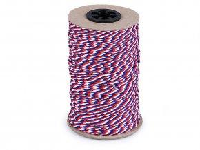 Stáčená šňůra trikolora Ø2 mm