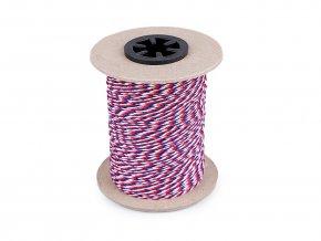 Stáčená šňůra trikolora Ø1,4 mm