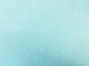 Plátno Malý bílý puntík na azurové