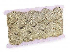 Vánoční prýmek / hadovka s lurexem šíře 25 mm široká