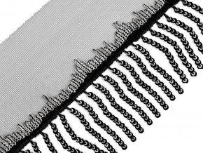 Prýmek monofilový s flitrovými třásněmi šíře 13 cm
