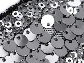 Flitrový prýmek / vsadka na monofilu šíře 35-40 mm